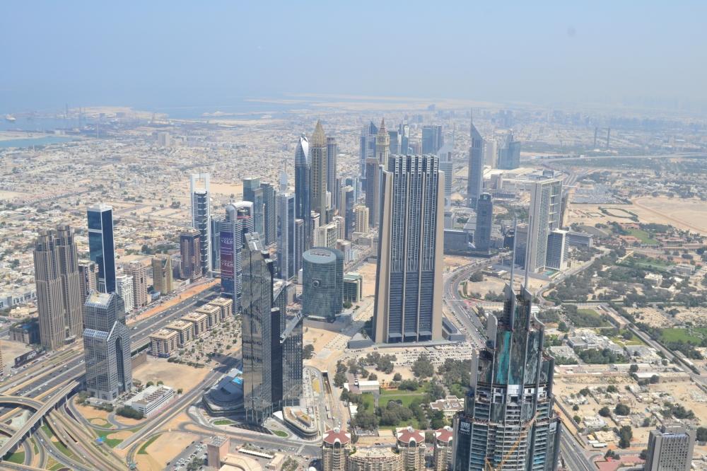 От птичи поглед (124 етаж)